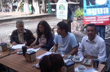 Asamblea Social del Agua en rueda de prensa